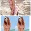 พร้อมส่ง ชุดว่ายน้ำทรงแซก เซ็ต 2 ชิ้น ลายขวางสลับสีสวย ปลายเสื้อแต่งระบาย กางเกงขาสั้น thumbnail 9