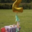 """ลูกโป่งฟอยล์รูปตัวเลข 0 สีทอง ไซส์จัมโบ้ 40 นิ้ว - Number 0 Shape Foil Balloon Size 40"""" Gold Color thumbnail 9"""