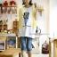 เสื้อคลุมท้องแขนกุด ลาย Like Balmain : สีขาว รหัส SH044 thumbnail 6
