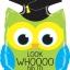 """ลูกโป่งฟลอย์ 28"""" SHAPE MIGHTY GRAD OWL LS FOIL/ Item No.TQ-BL35242 แบรนด์ Qualatex thumbnail 2"""