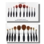 ชุดแปรงแต่งหน้า Kylie Limited Edition 10 ชิ้น Oval Cosmetic Toothbrush Shaped Foundation Power Makeup Brushes Set thumbnail 11