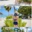 พร้อมส่ง ชุดว่ายน้ำวันพีซ ลายNavy สีน้ำเงินกรมท่า สายมัดคอ เว้าหลังลึก thumbnail 8