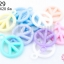 จี้พลาสติก สีพาลเทล รูปPeace คละสี 16X20มิล(1ขีด/100กรัม) thumbnail 1