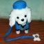 ตุ๊กตาหมาเดินได้ ส่ายก้นได้ มีเสียงเพลง (มาใหม่ล่าสุด) สีขาวใส่หมวก thumbnail 1