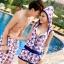 PRE ชุดว่ายน้ำคู่รัก บิกินี่ ลายสวย พร้อมชุดคลุมเอี๊ยม มีฮู้ด thumbnail 13