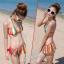 พร้อมส่ง ชุดว่ายน้ำบิกินี่ทูพีช สายคล้องคอ กางเกงแต่งระบายสวยๆ thumbnail 1