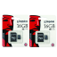 Kingston เมมโมรี่การ์ด Micro SD 16 GB (แพ็ค 2 ชิ้น) thumbnail 1