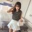 เสื้อแฟชั่นเกาหลี แขนกุด พิมพ์ลายเสื้อตามภาพ เนื้อผ้าชีฟองหางกระรอก thumbnail 2