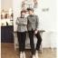 เสื้อเชิ๊ตคู่รักชุดคู่รักพร้อมส่ง ชาย +หญิง เสื้อเชิ๊ตแขนยาวสีเทา +พร้อมส่ง+ thumbnail 5