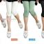 กางเกงเลคกิ้งขาสี่ส่วนแบบยางยืด ประดับมุก : สีดำ รหัส PN138 thumbnail 3