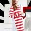 เสื้อคลุมท้องแขนยาว ลายขวางสุดอินเทรน : สีแดง-ขาว รหัส SH138 thumbnail 2