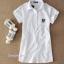 เสื้อเชิ้ตคลุมท้องคอปก สีขาว ปักลายตัว R : SIZE XL รหัส SH012 thumbnail 6