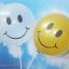 """ลูกโป่งกลมพิมพ์ลายหน้ายิ้ม ไซส์ 12 นิ้ว แพ็คละ 10 ใบ สีใส (Round Balloons 12"""" - Printing Smiley latex balloons clear color) thumbnail 2"""