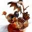 โคมไฟกะลามะพร้าว Birds and Flower thumbnail 4