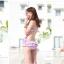 พร้อมส่ง ชุดว่ายน้ำวันพีซ Monokini สายเสื้อเดี่ยว แต่งระบายด้านหน้า หลังเว้าลึก น่ารักสไตล์เกาหลี thumbnail 6