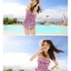 พร้อมส่ง ชุดว่ายน้ำวันพีซ Monokini สายเสื้อเดี่ยว แต่งระบายด้านหน้า หลังเว้าลึก น่ารักสไตล์เกาหลี thumbnail 9