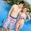 PRE ชุดว่ายน้ำคู่รัก บิกินี่ ลายสวย พร้อมชุดคลุมเอี๊ยม มีฮู้ด thumbnail 14