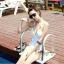 พร้อมส่ง ชุดว่ายน้ำวันพีซ Monokini สายคล้องคอแบบผูก เว้าช่วงเอว ดูเซ็กซี่มากๆ thumbnail 4
