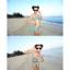 พร้อมส่ง ชุดว่ายน้ำบิกินี่ทูพีช สายคล้องคอ กางเกงดีไซน์ขอบเข็มขัดลายสวย พร้อมชุดแซก thumbnail 7