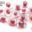 ลูกปัดแก้ว ทรงจานบิน สีแดงสอดไส้ (ใส) 12มิล(1ขีด/100กรัม) thumbnail 1
