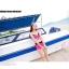 PRE ชุดว่ายน้ำเซ็ต 3 ชิ้น บรา กางเกงขาสั้น บวกกางเกงขายาวตัวนอก สีสันสดใสสุดชิค thumbnail 5
