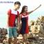 เสื้อคู่รัก ชายเสื้อยืดคอกลม + หญิงเดรสคอปกแขนกุด แต่งสีแดงดำขาว +พร้อมส่ง+ thumbnail 1