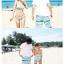 พร้อมส่ง ชุดว่ายน้ำคู่รัก ชุดว่ายน้ำบิกินี่ทูพีซ ลายกราฟฟิกโทนสีฟ้าเขียว พร้อมชุดเอี๊ยมกางเกงขาสั้นเนื้อเดียวกับชุดว่ายน้ำ thumbnail 5