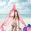พร้อมส่ง ชุดว่ายน้ำ Bikini ผูกข้าง ทูพีซ บราโทนสีส้มอ่อนๆ ลายโบฮีเมียนสวยๆ thumbnail 5