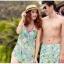 พร้อมส่ง ชุดว่ายน้ำคู่รัก ชุดว่ายน้ำบิกินี่ทูพีซ ลายสัตว์ทะเล พร้อมชุดแซกคลุมผ้าซีทรูสวย thumbnail 1