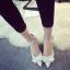 รองเท้าหนังสีขาวติดโบว์ thumbnail 9