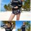 ชุดว่ายน้ำแขนยาว โทนสีดำ ลายสวย Love_XOXO thumbnail 2