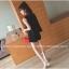 ชุดแฟชั่นเกาหลี เสื้อ+กางเกง ทรงสวยตามภาพ สีดำ thumbnail 2