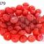 ลูกปัดแก้ว ทรงจานบิน สีแดง 8มิล (1ขีด/100กรัม) thumbnail 1