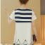 เดรสคลุมท้องแฟชั่นเกาหลี โทนสีขาวผ้าซีฟอง thumbnail 7