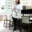 กางเกงฮาเร็มคลุมท้อง ขาขาว : สีดำ รหัส PN111 thumbnail 5
