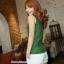 เสื้อคลุมท้องแขนกุด มีกระดุมปรับขนาด : สีเขียว รหัส SH165 thumbnail 6