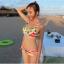 พร้อมส่ง ชุดว่ายน้ำคู่รัก บิกินี่ เซ็ต 3 ชิ้น colorful สีสันสดใส (บรา+บิกินี่+ผ้าคลุมซีทรู) thumbnail 13