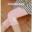 กางเกงเลคกิ้งคลุมท้องขาสี่ส่วน ลายลูกไม้รูปกระต่าย : สีชมพู รหัส PN146 thumbnail 2