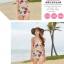 พร้อมส่ง ชุดว่ายน้ำเอวสูง สีชมพู ลายดอกไม้สวยๆ thumbnail 14