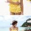 พร้อมส่ง ชุดว่ายน้ำวันพีซ Monokini สายเสื้อเดี่ยว แต่งระบายด้านหน้า หลังเว้าลึก น่ารักสไตล์เกาหลี thumbnail 15