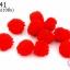 ปอมปอมไหมพรม สีแดง 1ซม (10ชิ้น) thumbnail 1