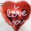 ลูกโป่งฟลอย์รูปหัวใจ สีแดง พิมพ์ลาย I LOVE YOU ไซส์ 18 นิ้ว - Love Series Heart Shape Foil Balloon / Item No. TL-E033 thumbnail 2