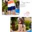 พร้อมส่ง ชุดว่ายน้ำทรงแซก เซ็ต 2 ชิ้น สายคล้องคอ สลับสีส้ม ขาว น้ำเงินสวยๆ thumbnail 3