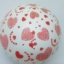 """ลูกโป่งกลมสีขาว พิมพ์ลายหัวใจ สีแดง รอบใบ ไซส์ 12 นิ้ว แพ็คละ 10 ใบ (Round Balloons 12"""" - Printing Heart red on latex White balloons) thumbnail 2"""