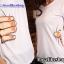 เสื้อยืดคู่รัก แฟชั่นคู่รัก ชาย + หญิง เสื้อยืดแขนสั้น เสื้อสีขาว สกรีนลายมือจับเอว +พร้อมส่ง+ thumbnail 6