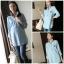 เสื้อคลุมท้องแฟชั่นเกาหลี โทนสีฟ้า แขนยาว เนื้อผ้าดี ใส่สบาย เหมาะกับคนแม่สมัยใหม่ค่ะ thumbnail 1