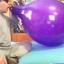 """ลูกโป่งจัมโบ้ สีม่วง คริสตัล ขนาด 24 นิ้ว - Round Jumbo Balloon Purple Crystal 24"""" thumbnail 2"""