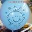 """ลูกโป่งกลมพิมพ์ลาย Baby Boy / Baby Girl ไซส์ 12 นิ้ว 4 ใบ มีสีฟ้าและชมพู กรุณาระบุสีที่ต้องการเมื่อสั่งซื้อ (Round Balloons 12"""" - Baby Boy Baby Girl Printing latex balloons) Item No. TL-C007/C008 thumbnail 4"""