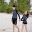 ชุดว่ายน้ำแขนยาวสีดำลายจุดขาว แขนสกรีนลาย (เสื้อ+กางเกง) ผู้หญิง thumbnail 7