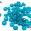 ลูกปัดแก้ว ทรงจานบิน สีฟ้าอมเขียวฟ้าเข้ม 8มิล(1ขีด/100กรัม) thumbnail 1